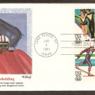 Olympics 1984, Bobsledding, Lake Placid, New York, First Issue USA