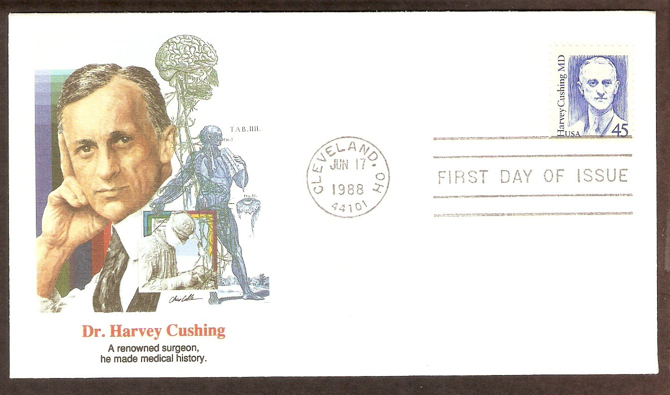 Honoring  Dr. Harvey Cushing, Father of Neurosurgery, FW FDC
