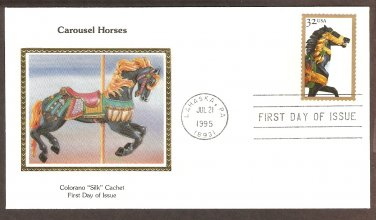 Carousel Black Horse with Gold Bridle, Golden Age, Folk Art, Merry Go Round, CS First Issue USA!