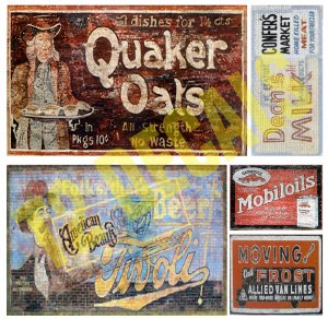 O Scale Ghost Sign Decals #27