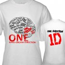 "1D One Direction ""Up All Night"" Music (CD Album Ticket Concert Tour) T shirt S M L XL Size a5code"
