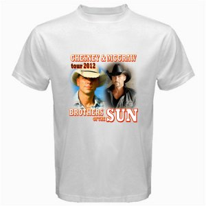 New Brothers of the Sun Tour 2012 Chesney & Mc Graw DVD Ticket T shirt S M L XL Size pic3
