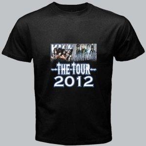 New Kiss Motley Crue Mötley Crüe The DVD CD Tickets Tour Date 2012 Tee T - Shirt pic2