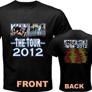 New Kiss Motley Crue Mötley Crüe pic15 DVD CD Tickets The Tour Date 2012 Tee T - Shirt