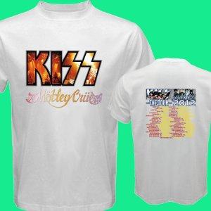 New Kiss Motley Crue Mötley Crüe pic18 DVD CD Tickets The Tour Date 2012 Tee T - Shirt