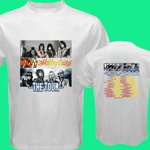 New Kiss Motley Crue Mötley Crüe pic21 DVD CD Tickets The Tour Date 2012 Tee T - Shirt