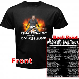 Bruce Springsteen and the E Street Band Wrecking Ball pict2 DVD Tickets Tour date 2012 Tee T- Shirt