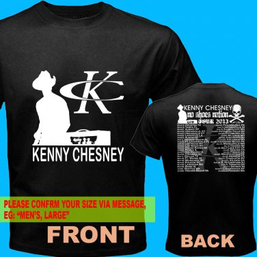 A01 Kenny Chesney No Shoes Nation Tour Date 2013 Tee T - Shirt SIZE S M L XL 2XL