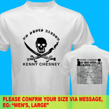 A14 Kenny Chesney No Shoes Nation Tour Date 2013 Tee T - Shirt SIZE S M L XL 2XL