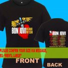 A02 Bon Jovi Because We Can Tour Date 2013 Tee T - Shirt SIZE S M L XL 2XL