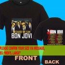 A03 Bon Jovi Because We Can Tour Date 2013 Tee T - Shirt SIZE S M L XL 2XL