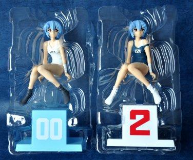 Set of Two Neon Genesis Evangelion Extra School Swimming Suit Figure Ver.2 Sega
