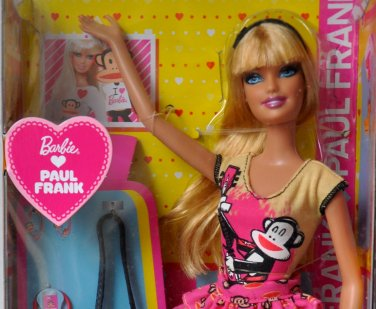 Rare Barbie Loves Paul Frank Julius Barbie Doll 2011