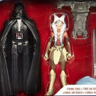 "New Hot Star Wars Rebels Darth Vader and Ahsoka Tano Set 3.75"" Figures by Hasbro"