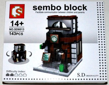 Sembo Block S.D Originality High Street Eatery Shop Series 143 PCS SD6013 Coffee Shop