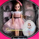 New Hot Takara Tomy Licca Bijou Series Luminous Pink Licca-Chan 9 Inches Doll
