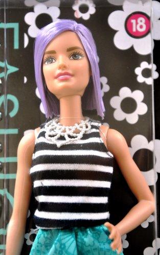 Barbie Fashionistas 12 Inches Trendy Fashion Doll #18 Va-Va-Violet DGY59 3Years+