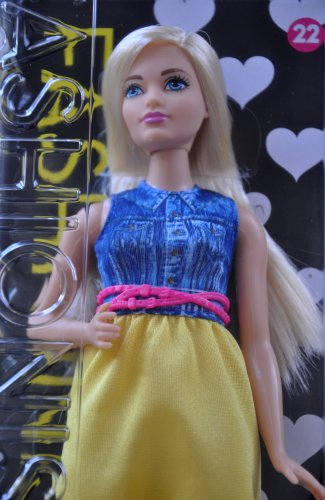 Barbie Fashionistas 12 Inches Trendy Doll Number 22 Chambray Chic Curvy 3 Years+