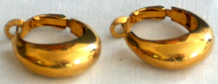 Gold Plated Bold Hoop Earrings