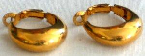 Gold Plated Bold Hoop Earrings