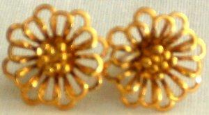 Gold Plated Flower Earrings