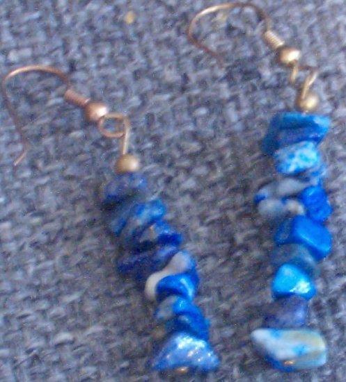 Unique Blue Stone Earrings