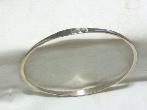 Sterling Silver Hammered Accents Bangle Bracelet