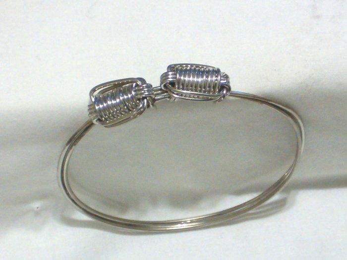 Sterling Silver/Coil Knot Bangle Bracelet