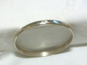 Sterling Silver Hammered Finish Bangle Bracelet