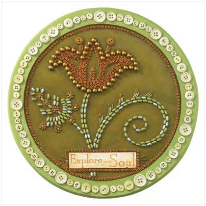 'Explore Your Soul' Beadwork Stepping Stone