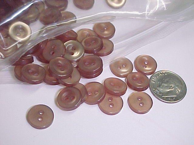 Brown Shirt Buttons  Over 100 Pcs  S125  tnk-ent