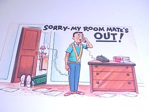 Vintage Humor Post Card postcard #PCE  tnk-ent