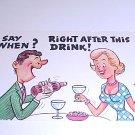 Vintage Humor Post Card postcard #PCC  tnk-ent