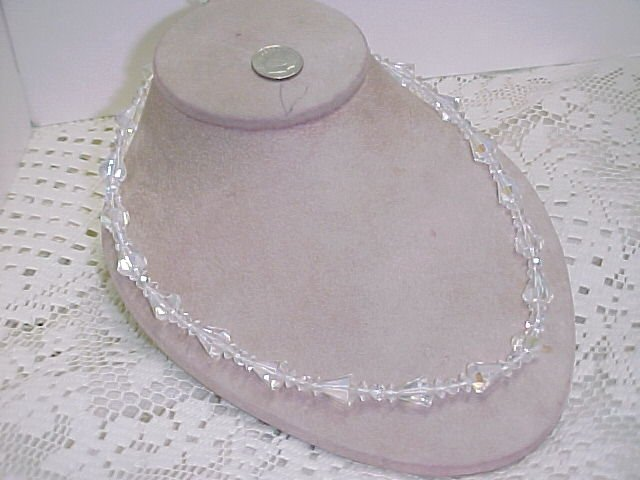Unique Vintage Crystal Bead Necklace  A627*  tnk-ent
