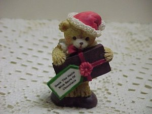 Deck The Halls Chocolate Bear  B628*  tnk-ent