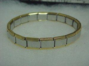 Gold/Silver Toned Expandable Metal Bracelet A464 tnk-ent