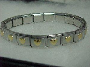Gold/Silver Toned Expandable Metal Bracelet  A460 tnk-ent