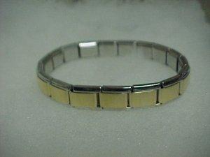 Gold/Silver Toned Expandable Metal Bracelet  A458 tnk-ent