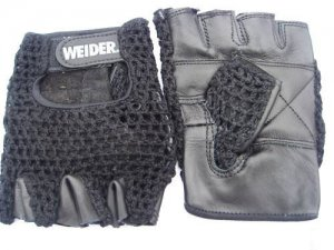 Weight Lifting Motor Cycling Workout Leather Gloves L new