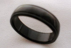 Unisex plain black stainless steel jewelry ring band 6 11 or 12