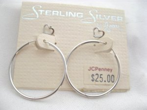 Sterling Silver Beau earring hoop and heart studs set Jewelry 25.00$