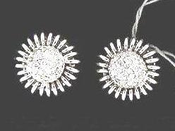 14kt White Gold & Diamond Estate Earrings 14 KT