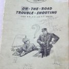 General Motors Locomotives Trouble Shooting Booklet 1949