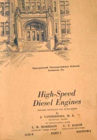Booklet HIGH SPEED DIESEL ENGINES 1944