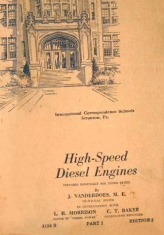Booklet HIGH SPEED DIESEL ENGINES 1944