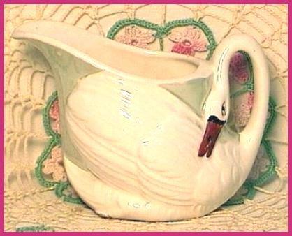Czech Hand Painted Swan Creamer