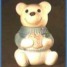 Vintage Metlox Smiling Bear with Sweater Cookie Jar