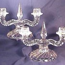 PAIR Fostoria COLONY Double CANDLEHOLDERS
