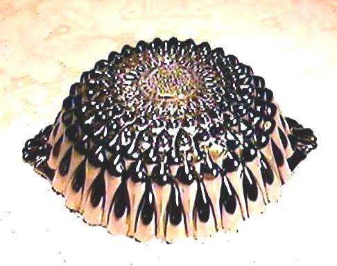 Sunflower Carnival Glass Bon Bon - Radium
