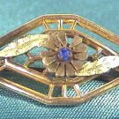 HANKY PIN with BLUE STONE Ca.1900